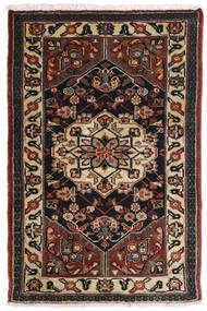Asadabad Matta 81X121 Äkta Orientalisk Handknuten Mörkbrun/Svart/Ljusbrun (Ull, Persien/Iran)