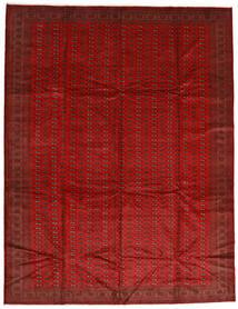 Turkaman Matta 302X388 Äkta Orientalisk Handknuten Roströd/Mörkröd Stor (Ull, Persien/Iran)