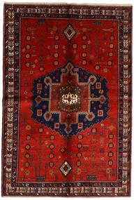 Afshar Matta 158X232 Äkta Orientalisk Handknuten Mörkröd/Roströd (Ull, Persien/Iran)