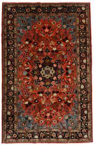 Mehraban Matta 188X290 Äkta Orientalisk Handknuten Mörkröd/Roströd (Ull, Persien/Iran)