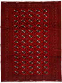 Turkaman Matta 258X344 Äkta Orientalisk Handknuten Röd/Mörkröd/Mörkbrun Stor (Ull, Persien/Iran)