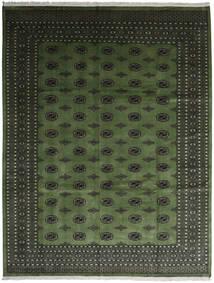 Pakistan Bokhara 2Ply Matta 280X363 Äkta Orientalisk Handknuten Mörkgrön/Mörkgrå Stor (Ull, Pakistan)