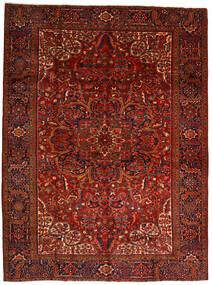 Heriz Matta 302X403 Äkta Orientalisk Handknuten Mörkröd/Mörkbrun Stor (Ull, Persien/Iran)