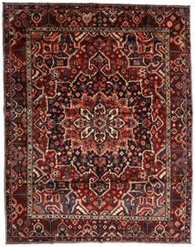 Bakhtiar Matta 303X390 Äkta Orientalisk Handknuten Mörkröd Stor (Ull, Persien/Iran)