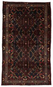 Beluch Matta 115X196 Äkta Orientalisk Handknuten Mörkbrun/Mörkröd (Ull, Afghanistan)