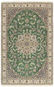 Nain 9La Matta 97X153 Äkta Orientalisk Handknuten Ljusgrå/Olivgrön/Beige (Ull/Silke, Persien/Iran)