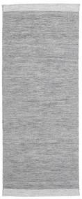 Serafina - Mörkgrå Melerad Matta 100X250 Äkta Modern Handvävd Hallmatta Ljusgrå (Ull, Indien)