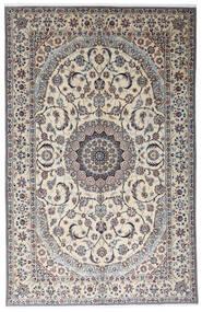 Nain 9La Matta 199X312 Äkta Orientalisk Handknuten Ljusgrå/Beige (Ull/Silke, Persien/Iran)