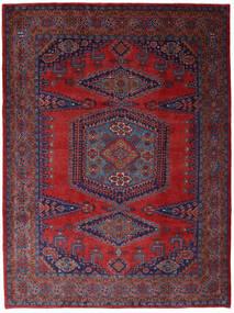Wiss Matta 253X344 Äkta Orientalisk Handknuten Mörkröd/Mörklila Stor (Ull, Persien/Iran)