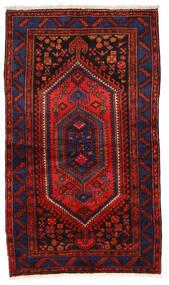 Zanjan Matta 135X236 Äkta Orientalisk Handknuten Mörkblå/Mörkröd/Roströd (Ull, Persien/Iran)