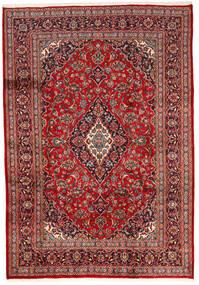 Keshan Matta 200X287 Äkta Orientalisk Handknuten Mörkröd/Mörkbrun (Ull, Persien/Iran)