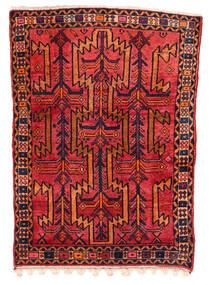 Koliai Matta 130X180 Äkta Orientalisk Handknuten Mörkröd/Roströd (Ull, Persien/Iran)