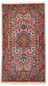 Kerman Matta 88X160 Äkta Orientalisk Handknuten Mörkgrå/Mörkröd (Ull, Persien/Iran)
