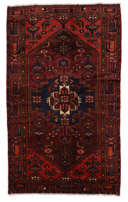 Zanjan Matta 132X220 Äkta Orientalisk Handknuten Mörkröd (Ull, Persien/Iran)