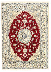 Nain Matta 167X240 Äkta Orientalisk Handknuten Beige/Ljusgrå (Ull, Persien/Iran)