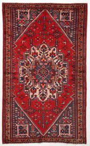 Hamadan Matta 125X211 Äkta Orientalisk Handknuten Mörkröd/Roströd (Ull, Persien/Iran)