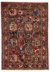 Bakhtiar Collectible Matta 101X151 Äkta Orientalisk Handknuten Mörkbrun/Mörkröd (Ull, Persien/Iran)