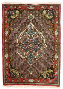Bakhtiar Collectible Matta 108X159 Äkta Orientalisk Handknuten Mörkbrun/Mörkröd (Ull, Persien/Iran)