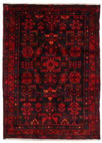Nahavand Matta 123X174 Äkta Orientalisk Handknuten Mörkbrun/Mörkröd (Ull, Persien/Iran)