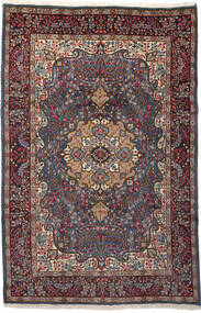 Kerman Matta 196X299 Äkta Orientalisk Handknuten Mörkröd/Mörkbrun (Ull, Persien/Iran)