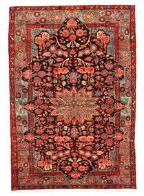 Nahavand Old Matta 158X230 Äkta Orientalisk Handknuten Mörkröd/Roströd (Ull, Persien/Iran)