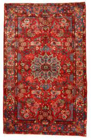 Nahavand Old Matta 155X245 Äkta Orientalisk Handknuten Mörkröd/Roströd (Ull, Persien/Iran)