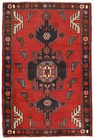 Klardasht Matta 78X120 Äkta Orientalisk Handknuten Roströd/Svart (Ull, Persien/Iran)