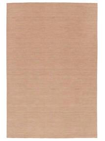 Kelim Loom - Dusty Rose Matta 300X400 Äkta Modern Handvävd Röd/Ljusbrun Stor (Ull, Indien)