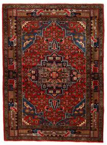 Koliai Matta 104X143 Äkta Orientalisk Handknuten Mörkbrun/Mörkröd (Ull, Persien/Iran)
