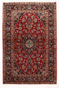 Keshan Matta 97X147 Äkta Orientalisk Handknuten Mörkröd/Beige (Ull, Persien/Iran)