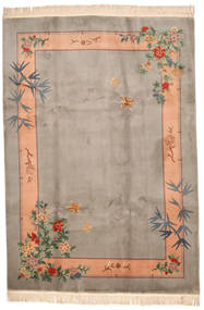 Kina 90 Line Matta 213X305 Äkta Orientalisk Handknuten Ljusgrå/Ljusbrun (Ull, Kina)