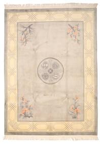 Kina 90 Line Matta 244X335 Äkta Orientalisk Handknuten Beige/Ljusgrå (Ull, Kina)