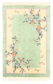 Kina Antikfinish Matta 120X180 Äkta Orientalisk Handknuten Pastellgrön/Gul (Ull, Kina)