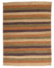 Utomhusmatta Rex Stripe - Brun Matta 150X200 Äkta Modern Handvävd Brun/Ljusbrun (Jutematta Indien)
