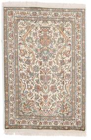 Kashmir Äkta Silke Matta 64X95 Äkta Orientalisk Handknuten Ljusgrå/Beige (Silke, Indien)