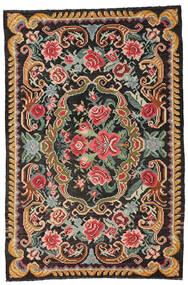 Rosenkelim Moldavia Matta 191X285 Äkta Orientalisk Handvävd Svart/Mörkgrå (Ull, Moldavien)