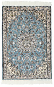 Nain 9La Matta 80X117 Äkta Orientalisk Handknuten Svart/Ljusgrå (Ull/Silke, Persien/Iran)